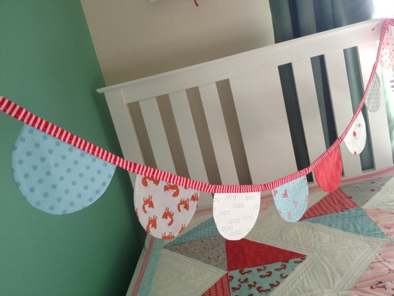 tillytom - scallop bunting flags walk in the by tillytomdesigns - $30.00