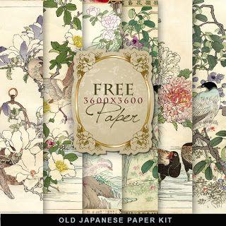 Far Far Hill: Freebies Old Japanese Paper