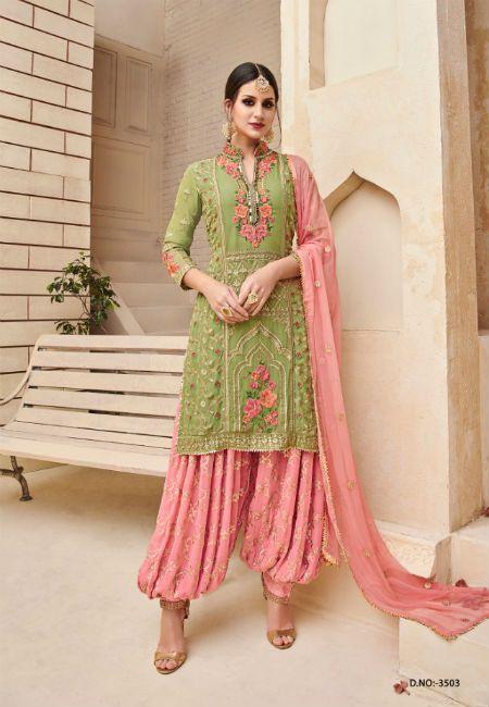 b091bd4a22 Shree Fabs Shagun Beautiful Collection of Heavy Patiala Salwar Suit 3503