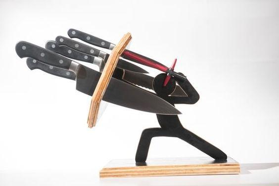 Оригинальная подставка для ножей своими руками — Своими руками: