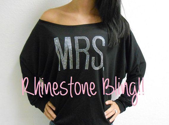 MRS. Sweatshirt. MRS. Off-Shoulder Sweatshirt. by BrideBikini