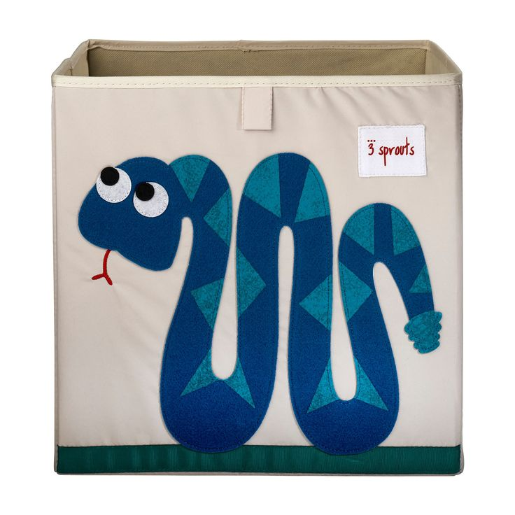 3 Sprouts Fabric Cube Storage Bin - Snake, Canvas