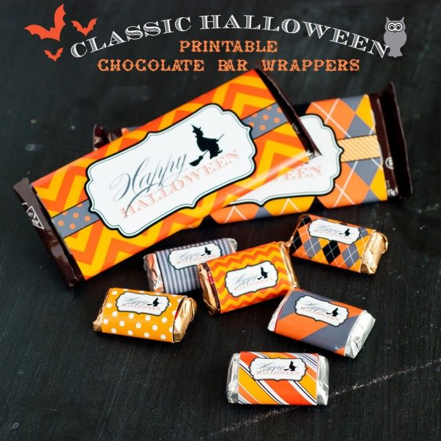 printable halloween candy bar wrap halloween party ideas pinterest free printables. Black Bedroom Furniture Sets. Home Design Ideas