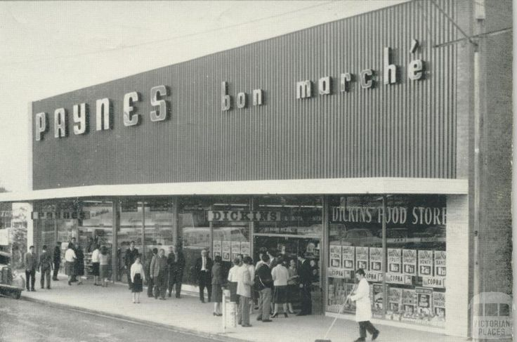 Paynes new store at Morwell, 1960
