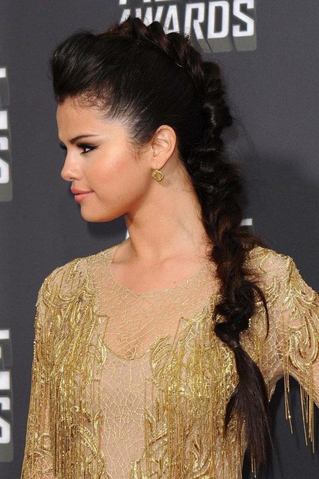 Selena Gomez Mohawk braid | Just love it | Pinterest