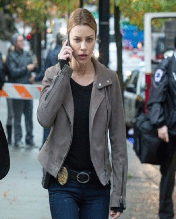 Lauren German Lucifer Chloe Decker Gray Jacket