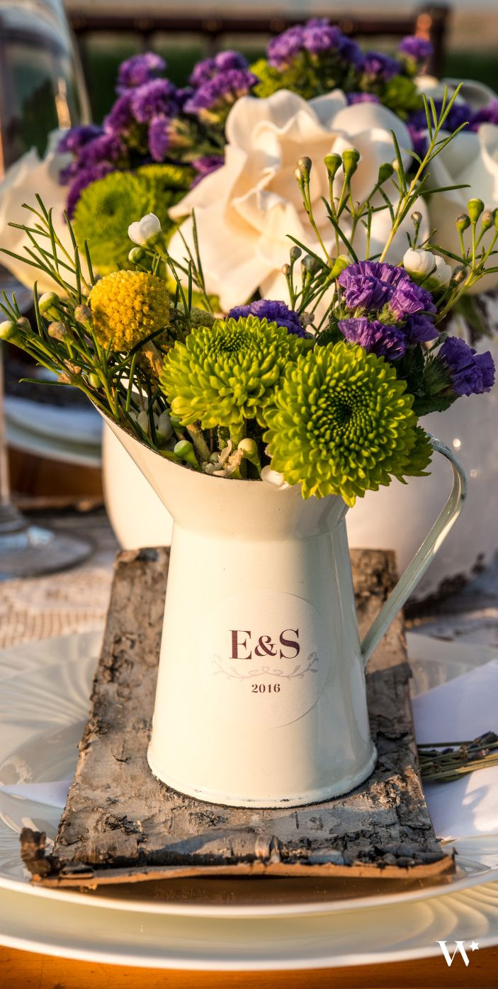Bursting with blooms, our French Provençal Mini Decorative Pitchers are great as wedding favors and place cards! http://www.weddingstar.com/product/french-provencal-mini-decorative-pitcher