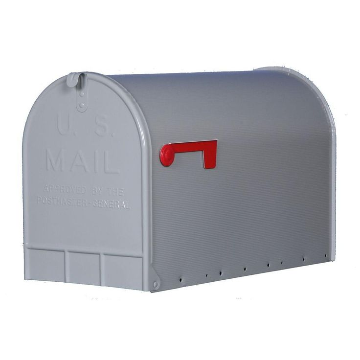 This jumbo, heavy-duty mailbox holds several days' worth of mail in addition to mid-sized packages. Almost 1 ft. wide and more than 2 ft. deep, it holds A LOT of mail -- perfect for rural residences or anyone who likes to collect mail infrequently. Also available in black.