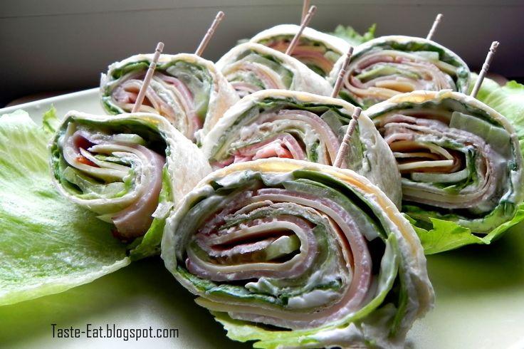 Imprezowe rollsy z tortilli- 2 wersje