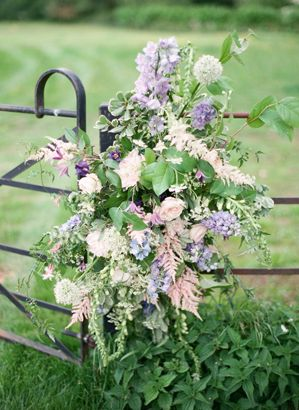 Romantic English Countryside Wedding by Polly Alexandre, Flowers by Scarlet & Violet
