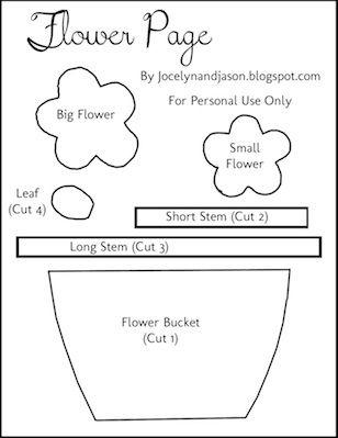plantilla flores, descarga dropbox