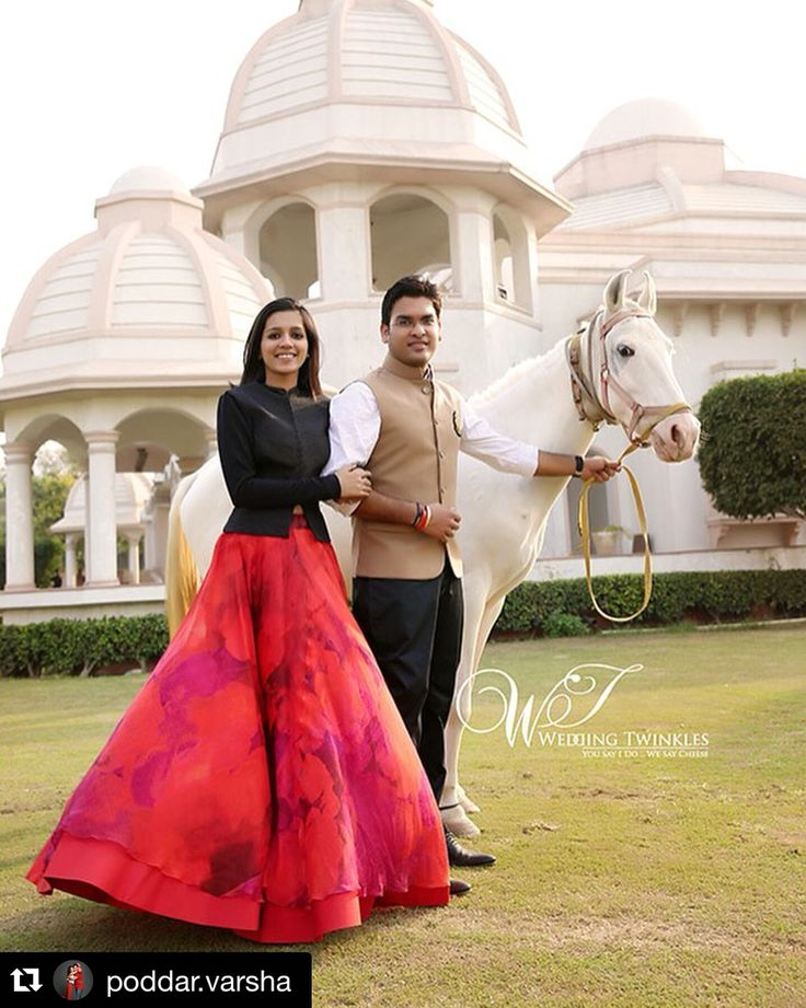 Our client @poddar.varsha marks her 3 month wedding anniversary in style wearing this romantic hued printed rose skirt by JADE #jadecouture #monicakarishma #skirt #anniversary #wedding