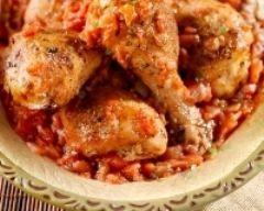 Poulet basquaise rapide (facile) - Une recette CuisineAZ