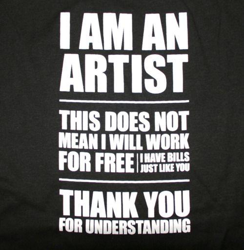 i am an artist --