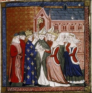 Marriage of Louis VII & Aleanor d'Aquitaine - 1137 - Grandes Chroniques de France Two daughters were born: Marie Capet, Comtesse of Champagne (1145-1198) & Alix Capet, Comtesse de Blois (1150-1198) Their marriage was annulled due to Eleanor not bearing a son.