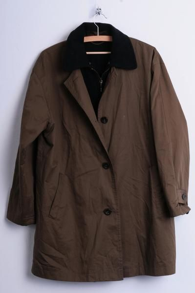 Casuals Sports Womens 38 M Jacket Coat Trench Mac Brown Long Classic Autumn - RetrospectClothes