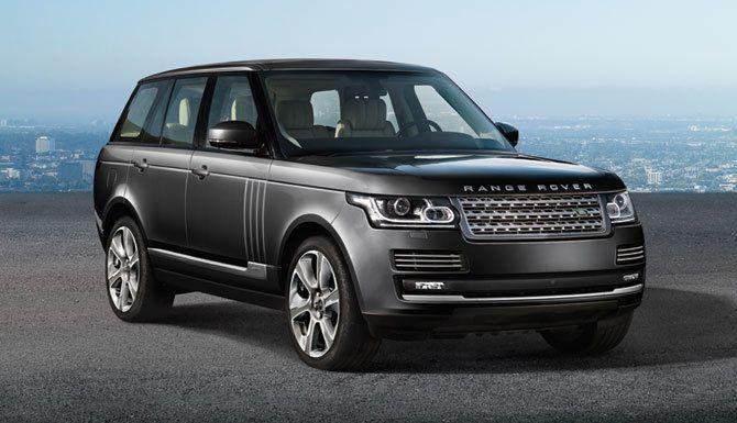 The bold design of the Range Rover Vogue SE