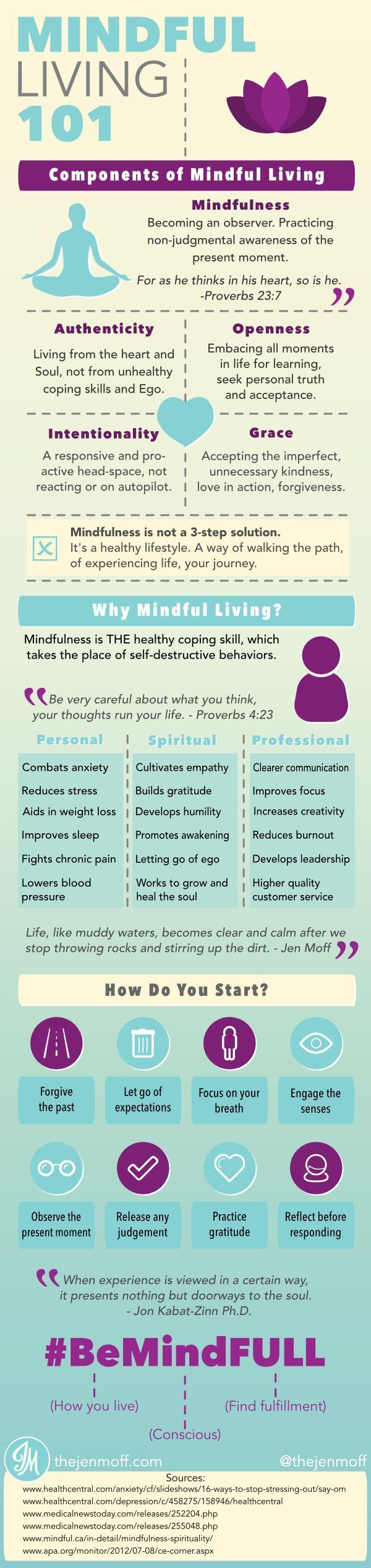 On #mindful living, #intention and #purpose www.pinterest.com...