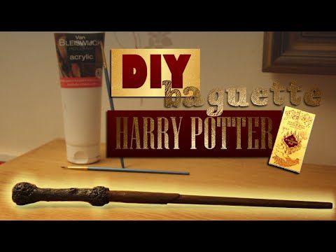 DIY - Comment fabriquer la BAGUETTE DE HARRY POTTER                                                                                                                                                                                 Plus