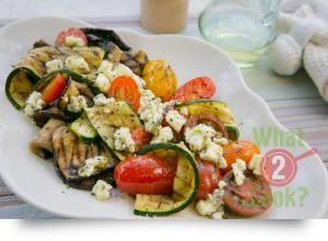Grilled Vegetables with Peppered Feta and Oregano