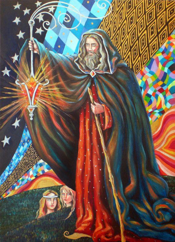 The Tarot  my Major Arcana painting  22 di factoryoftheartideas
