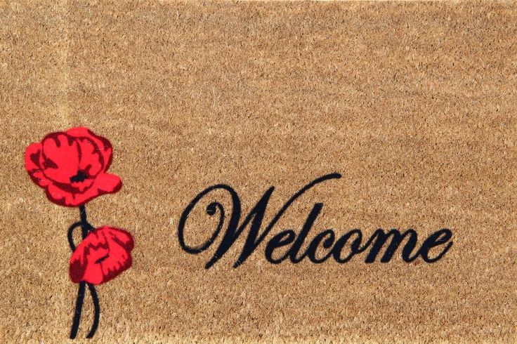 Poppy Welcome  Shop at www.onlymat.com