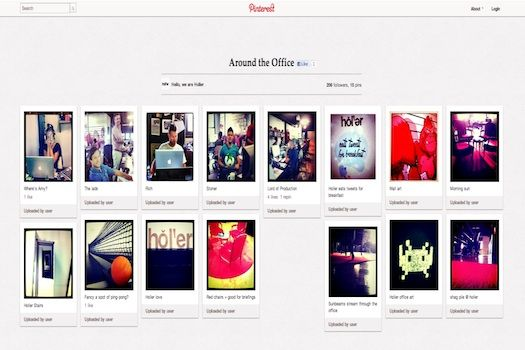 AGENCY PUTS THEIR COMPANY WEBSITE ON PINTEREST
