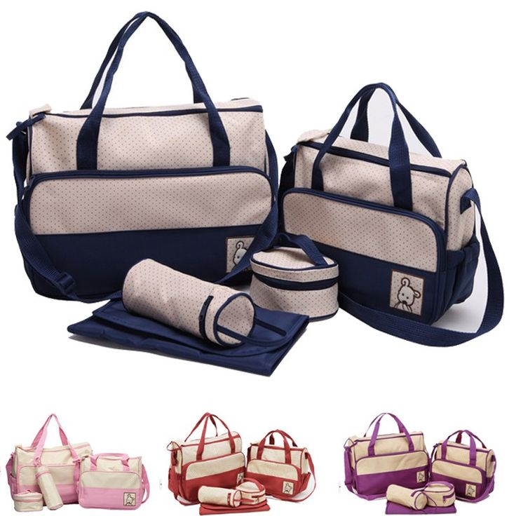 Baby Care 2016 Fashion dot Mummy Bag Mother Bag For Baby High Quality Baby Changing Bags multifunction Diaper Bag