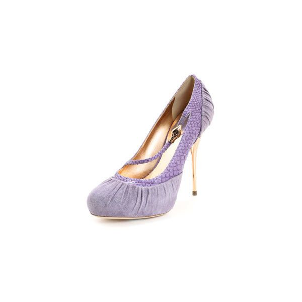 Christian Dior VNP74690-PURP-38 Dior Cobra Purple Suede & Python Print... ($438) ❤ liked on Polyvore featuring shoes, pumps, heels, dior, footwear, python print shoes, purple pumps, heel pump, purple suede pumps and python shoes