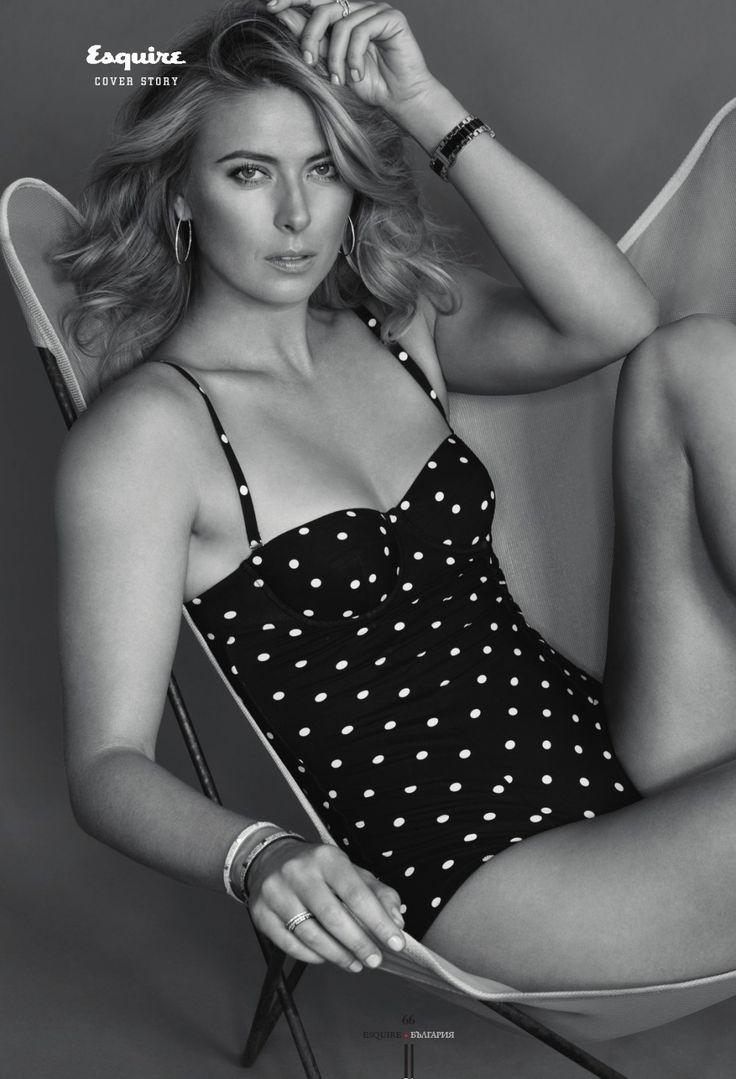 Retro downblouse Maria Sharapova - Esquire 2015 | MY Photo Space (Sharapova) | Pinterest | Esquire and Maria sharapova