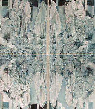 Rosanna Dean: Yantra 2, 2014 http://www.kidsofdada.com/products/yantra-1-beyond-our-bodies-2014 #geometric #art #painting