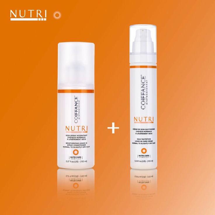 Alcuni prodotti della linea nutri destinati alla cura di capelli leggermente secchi o normali.