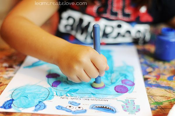 { Printable Monsters Inc. Crafts }