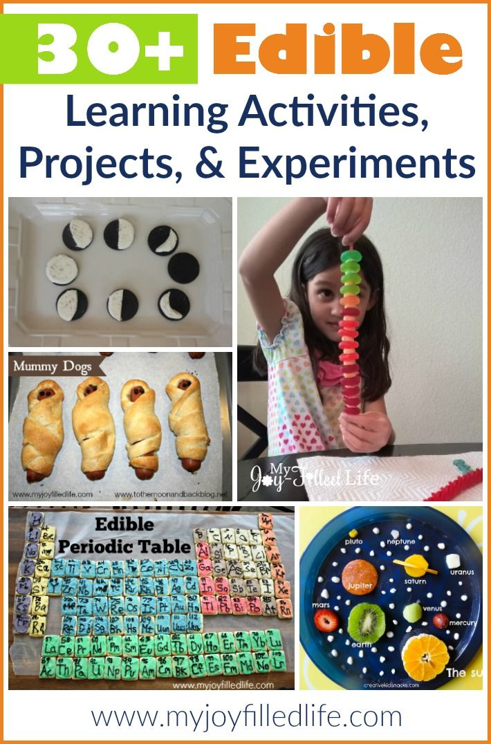 30+ Edible Learning Activities, Projects, & Experiments