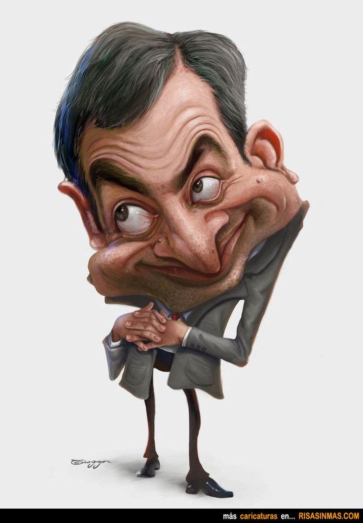 Caricatura de Mr. Bean.