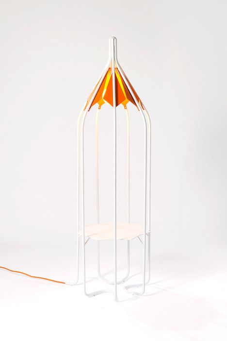 Outline Floor Light By Matali Crasset, A Limited Edition For Galerie Slott.  Like A Long Lantern. Objects Can Be Placed On The Flat Surface: They Will  Be Lit ...