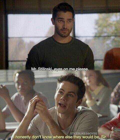 I honestly don't know where else they would be... ;) #sterek #Stiles #Derek…