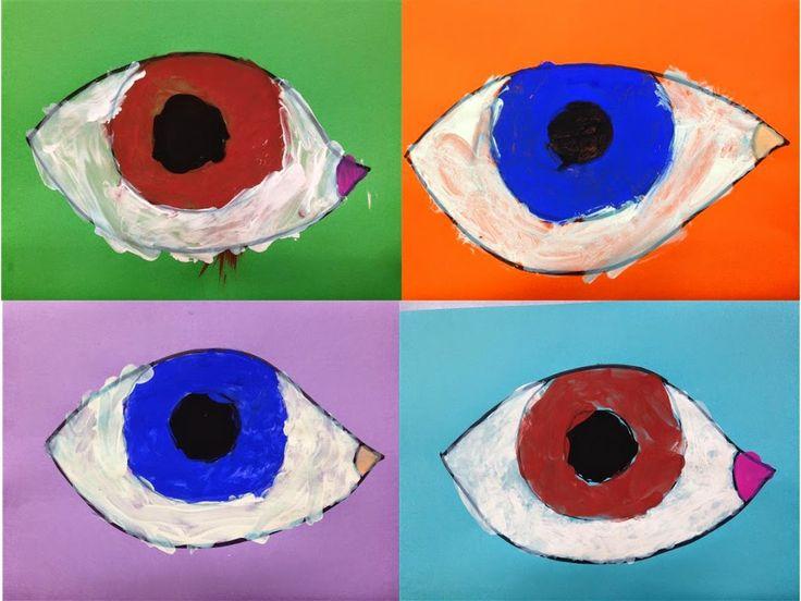#OBRE EL ULLS - Material: cartolina, pintura - Nivell: Primària CI 2014-15