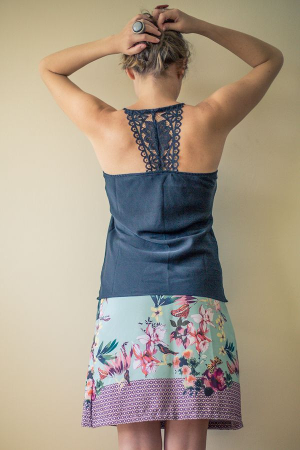 Diy jupe facile comment coudre une jupe facile patron gratuit diy mode couture ses - Diy couture facile ...