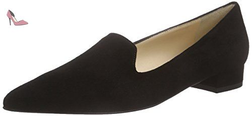 Evita Shoes Slipper, Mocassins Femme, Noir-Schwarz (Schwarz 10), 36 EU - Chaussures evita shoes (*Partner-Link)