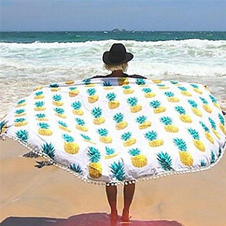 Round Beach Towel Serviette de plage Ronde Toalla Playa Towel Outdoor Picnic Blanket Beach Towel New