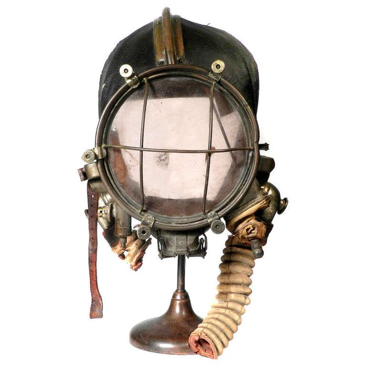 Very Rare and Important 1910 Drager Smoke Mask | From a unique collection of antique and modern scientific instruments at http://www.1stdibs.com/furniture/more-furniture-collectibles/scientific-instruments/
