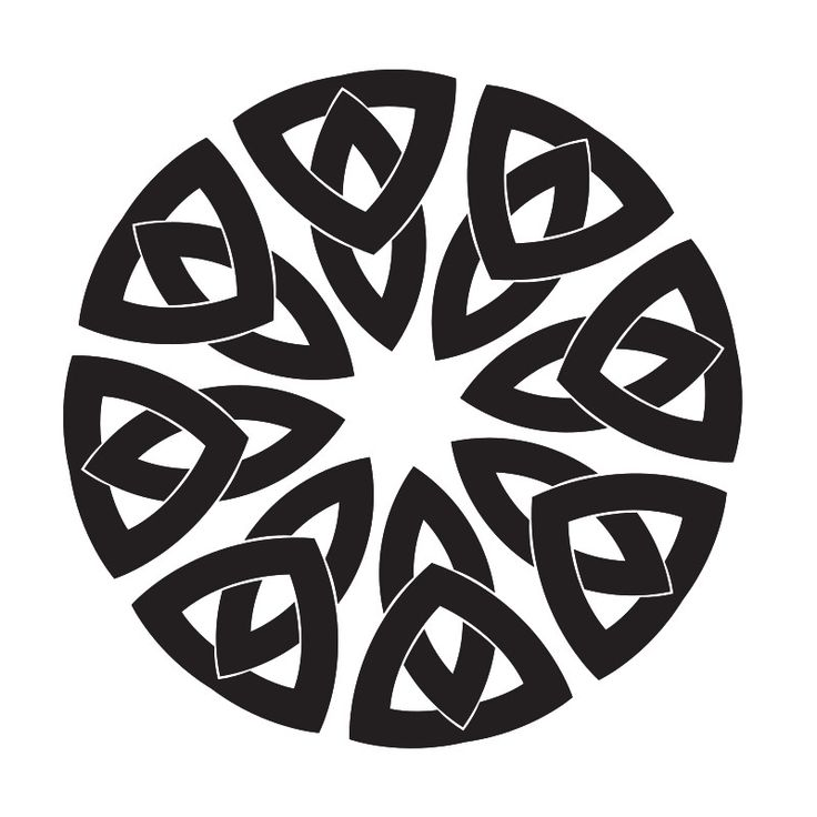Download Celtic knot shape (With images) | Celtic knot, Silhouette ...