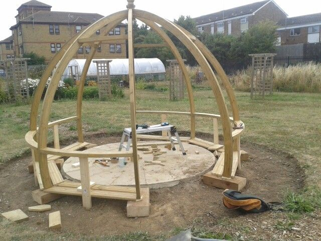 Garden dome adapted with seating