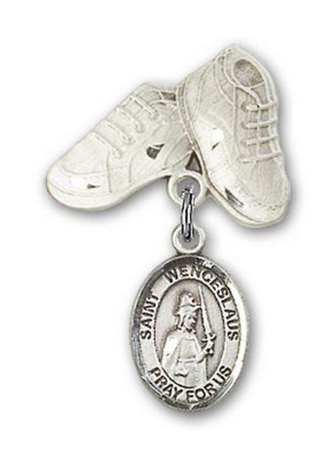 IceCarats Designer Jewelry Sterling Silver St Wenceslaus Charm Baby Boots Pin 1 X 58 *** You can find more details by visiting the image link.