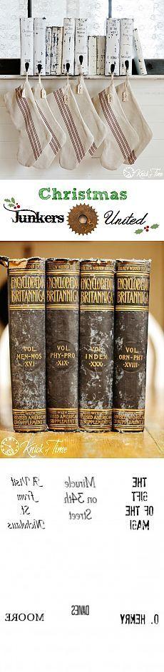 Юнкерс объединимся с рождественские книги чулок Вешалка - 12 дней Рождества финал! - Knick времени