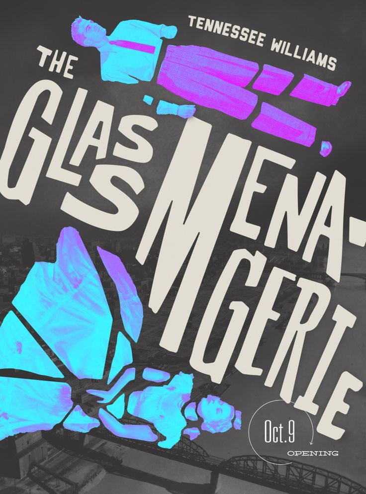"""Poster design for Colorado State University's production of """"The Glass Menagerie"""""""