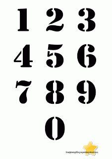 Numeros con fondo en negro  Numeros grandes para imprimir