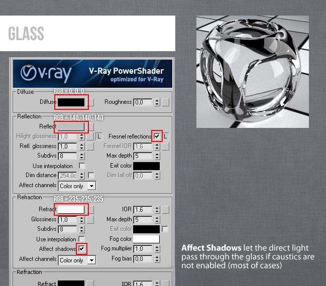 Vray V-Ray 3ds Max Glass