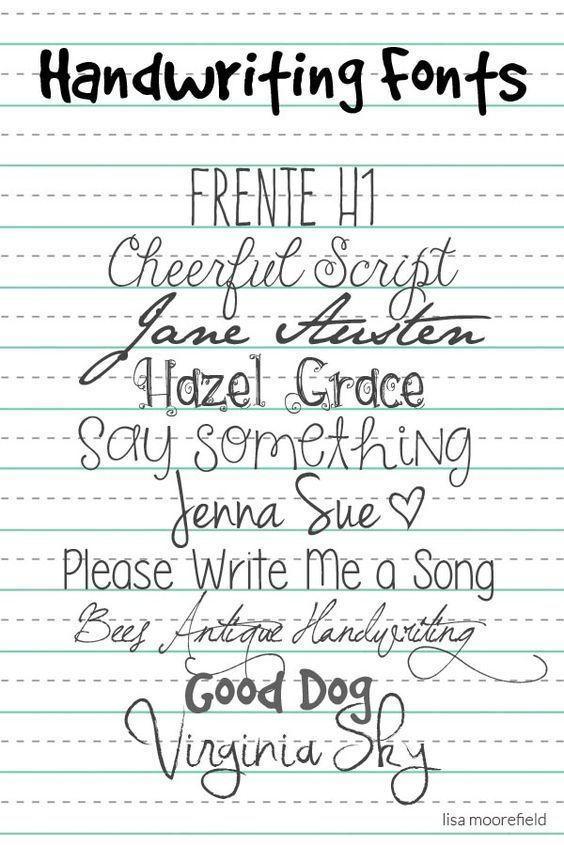 #handgeschreven #lettertype #font